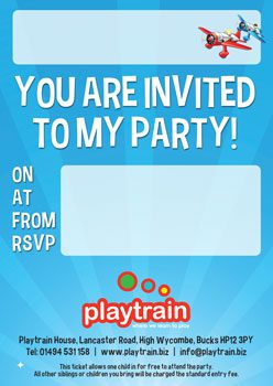 Playtrain Party Invite 2018 sml - PARTIES